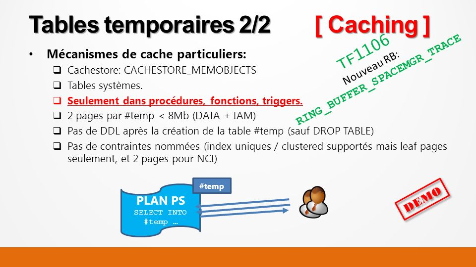 Tables temporaires 2/2 [ Caching ]